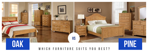 مقایسه چوب ها , تفاوت چوب بلوط با چوب کاج