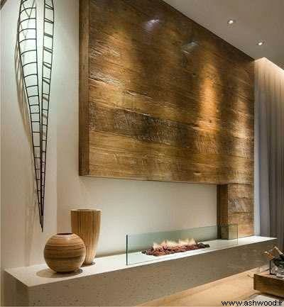 استفاده از چوب کهنه و سندبلاست در دکوراسیون لوکس چوبی