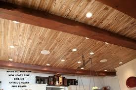سبک روستیک در سقف های چوبی ساخته شده از لمبه وی و تیر و تیرچه