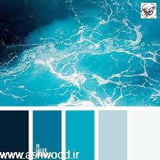 پالت رنگ آبی