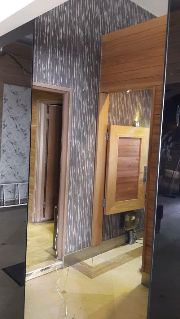 درب چوبی نیم تنه , درب بادبزنی