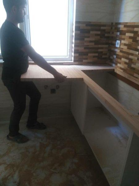 اجرای صفحه کابینت آشپزخانه بوسیله صفحه بائوباخ المان