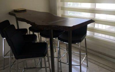 میز اسلب چوب گردو