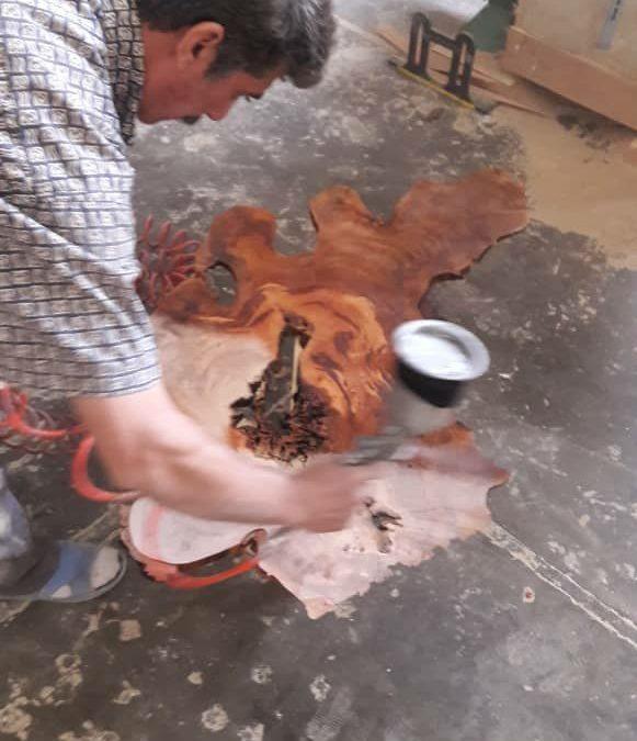 اسلب تخته رزین اپوکسی + عکس کنده درخت