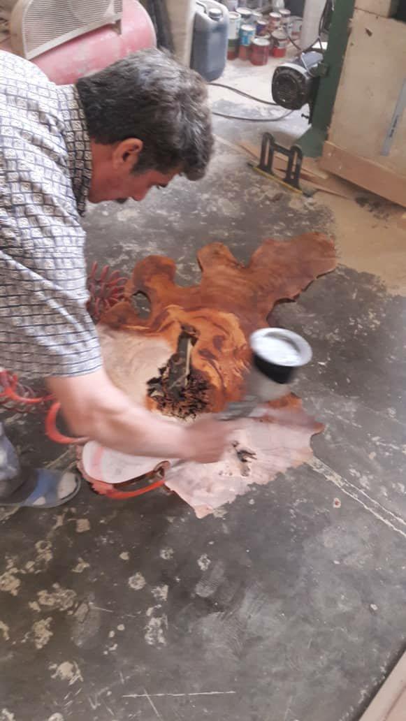 اسلب تخته رزین اپوکسی + عکس کنده درخت استاد مجید خبازی