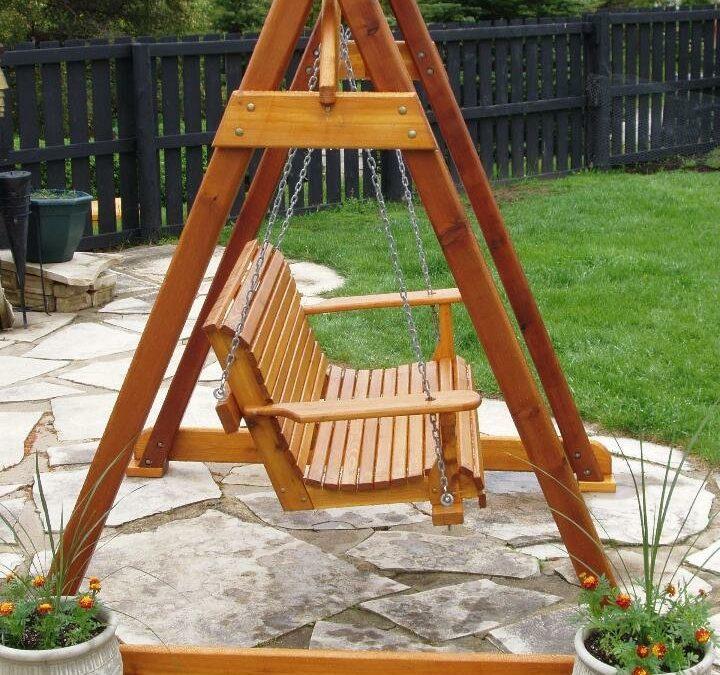 ایده ساخت یک تاب فوق العاده، ساخت تاب چوبی ریلکسی بزرگ و کوچک