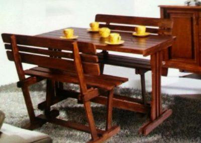 میز و صندلی چوب کاج روسی