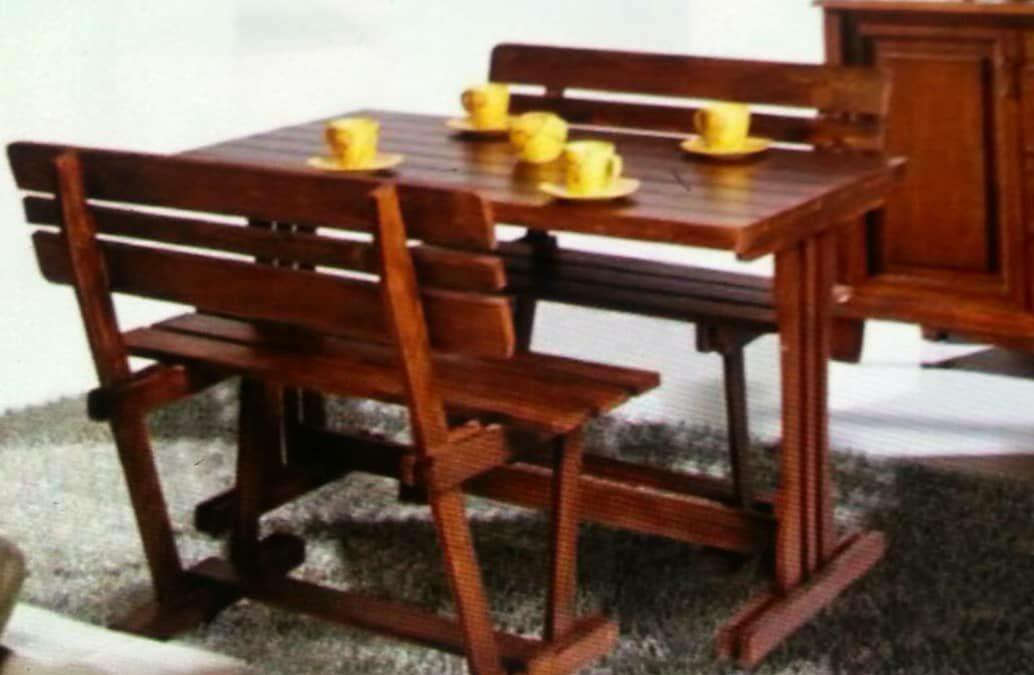 قیمت میز و نیمکت فضای باز چوب کاج