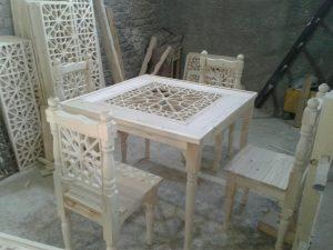 میز و صندلی سبک سنتی ایرانی