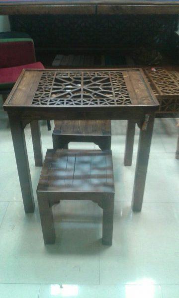 ایده میز چوبی ساده و محکم ، مدل میز کار چوبی ،