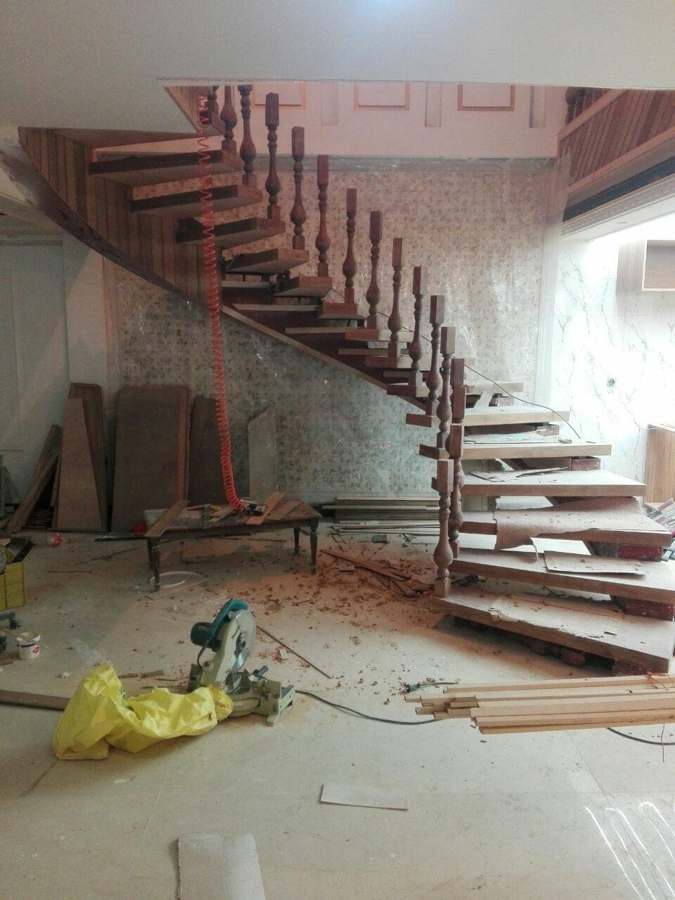 ساخت پله پیچ مدور، طراحی و ساخت انواع پله چوبی