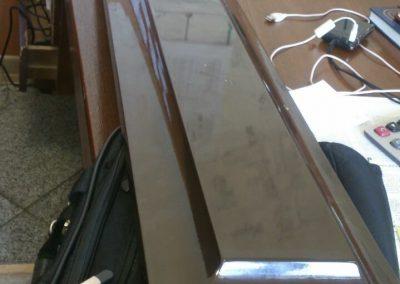 رنگ کابینت سفید پلی استر پوست و پولیش , درب کابینت انزو , رزین پلی استر شفاف