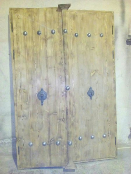 درب سنتی تمام چوب , در چوبی