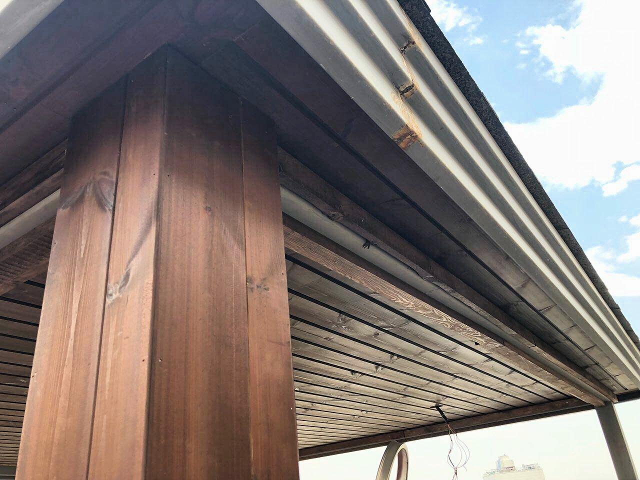 کاور چوبی ستون، پوشش ستون و تیر آهن در ساختمان، دیزاین داخلی ویلا