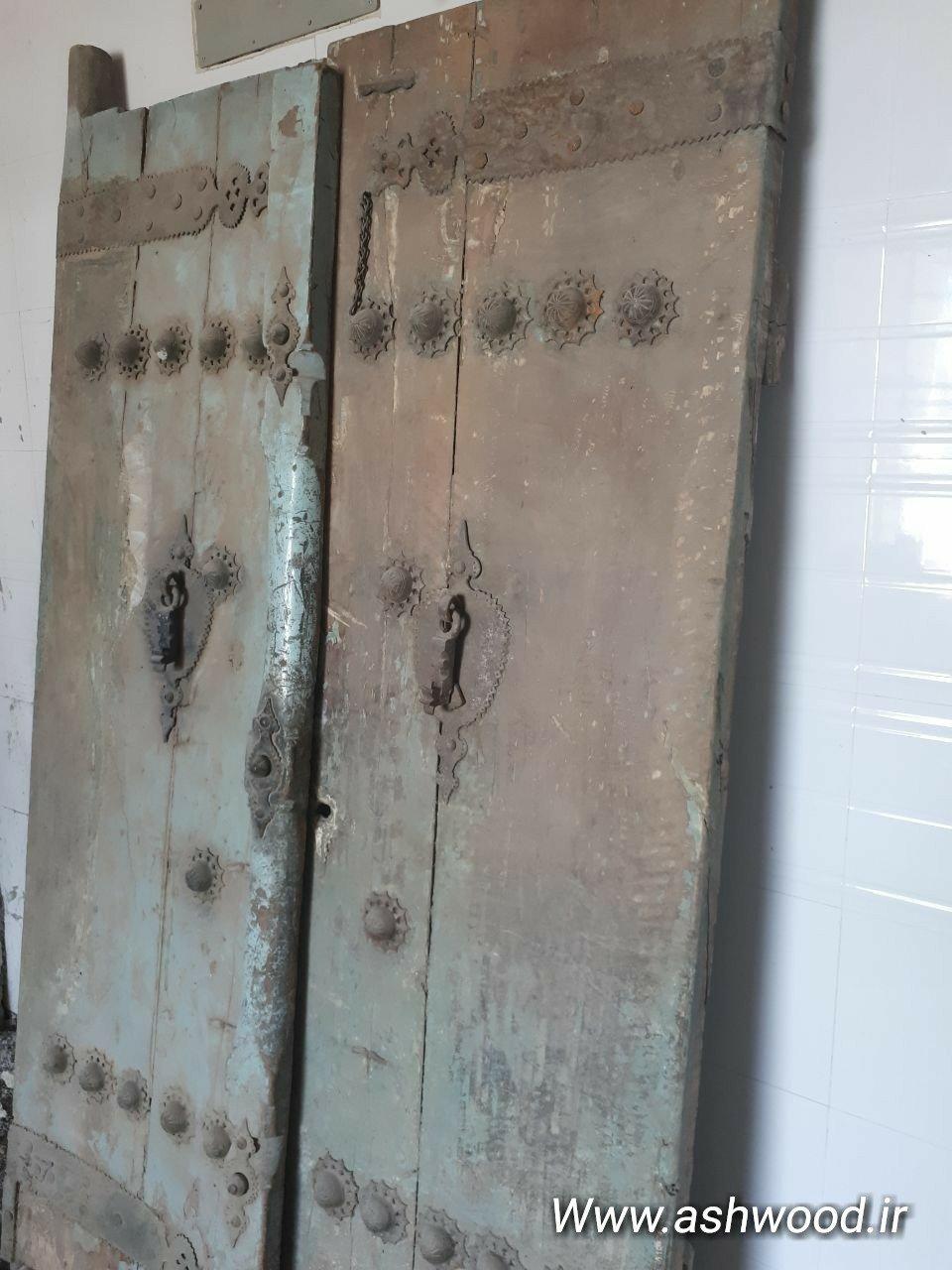 فروش درب قدیمی درب چوبی دو لنگه