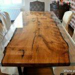 میز گرد رزین پلی استر اسلب چوبی,تنه درخت برش شده,برش اسلب,اسلب چوب