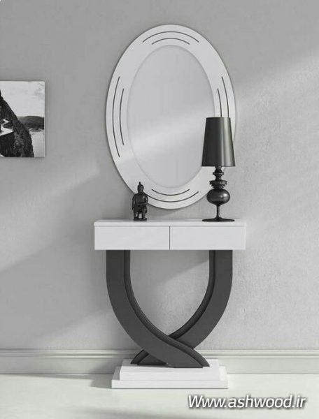 میز کنسول و آینه , قاب آینه کلاسیک مدرن چوبی , آینه کنسول و بوفه چوبی , شیک ترین مدل های آینه و کنسول های پرطرفدار