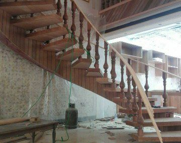 عکس اجزای پله چوبی , ایده های جدید نرده و دست انداز , ایده های طراحی و اجرا دست انداز پله , پله,دست اندازه نرده,دست انداز جدید, نرده راه پله چوبی در دکوراسیون داخلی