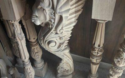 نمونه نرده چوبی