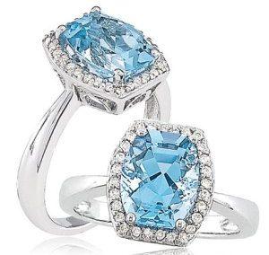 طلا و جواهر - آبی