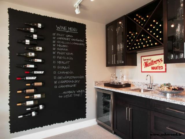 آشپزخانه خود را با رنگ تخته سیاه سفارشی کنید .