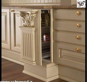 کابینت کلاسیک سفید ، دکوراسیون لوکس چوبی صنایع چوب فن و هنر تولید کننده انواع درب کابینت چوب و ام دی اف طرح های مدرن , کلاسیک ، مینیاتور ، معاصر , کوبیسم ، نئوکلاسیک