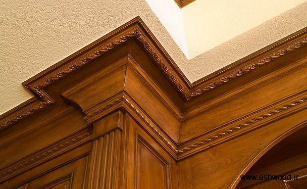 ایده های منحصر به فرد کابینت آشپزخانه تزئینی چوب برای تاج و درب کابینت