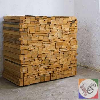 کمد و کنسول چوبی ساخته شده از تکه چوب