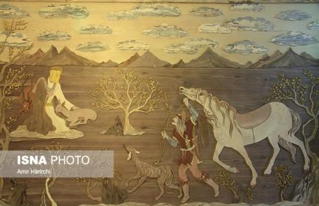 هنرمند مشهدی بزرگترین معرق «ضامن آهو» را خلق کرد