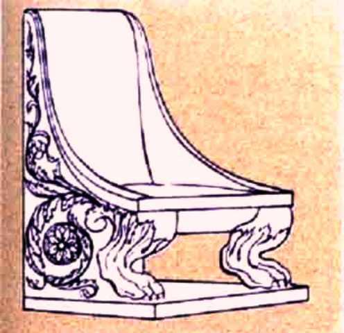 صندلی و تخت چوبی تراشیده شده از چوب و عاج