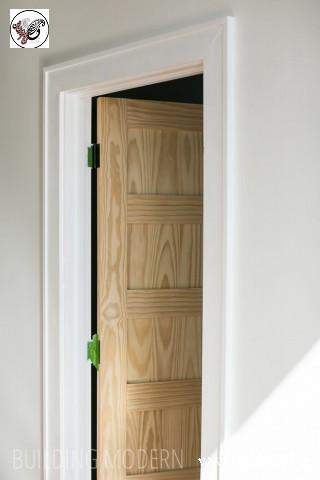 درب چوبی مدرن