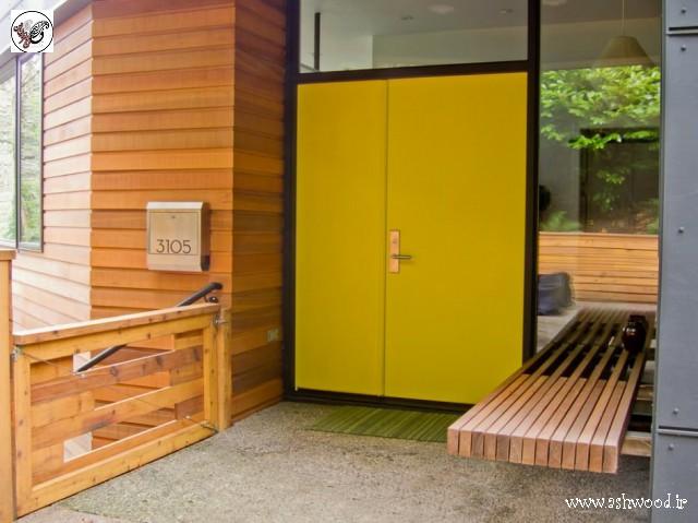 30 ایده درب چوبی مدرن2019