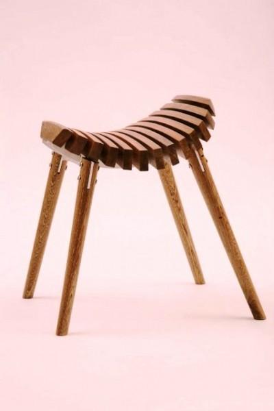 چهارپایه مدرن چوبی