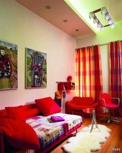رنگ در دکوراسیون داخلی ، دکوراسیون چوبی
