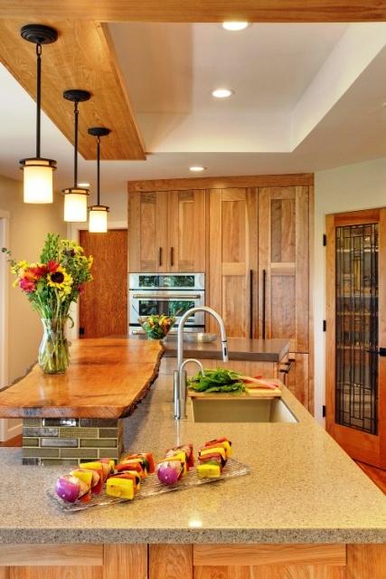 چوب در دکوراسیون داخلی منزل ( آشپزخانه چوبی ) ایده , لوکس و  منحصر به فرد