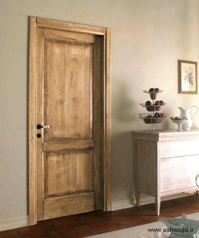 درب چوبی سبک روستیک