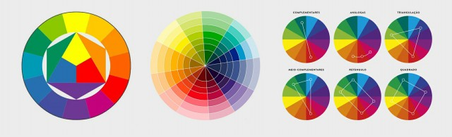 طراحی دایره رنگ