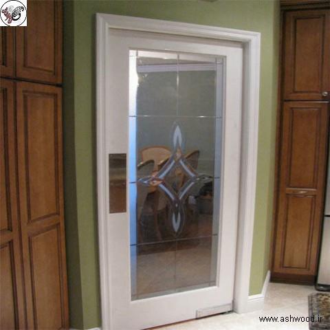 مدل های جدید درب چوبی شیشه خور , قیمت درب داخلی شیشه خور