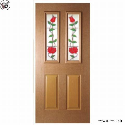درب شیشه خور , درب چوبی
