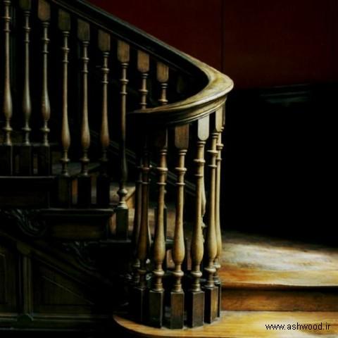 پله چوبی , پله چوبی ساده , پله چوبی دوبلکس , راه پله چوبی