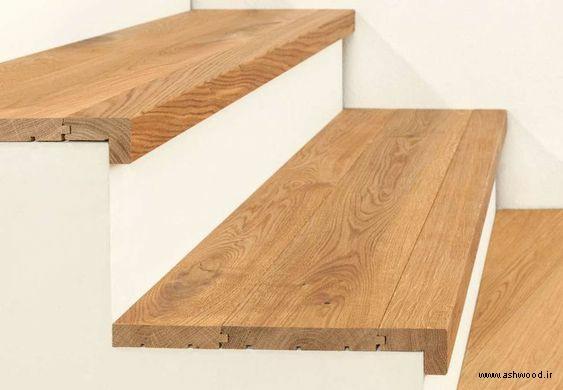 کف پله چوب راش، کف پله چوبی،