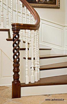 پله چوبی , نرده چوبی , ساخت پله چوبی دوبلکس , قیمت راه پله چوبی