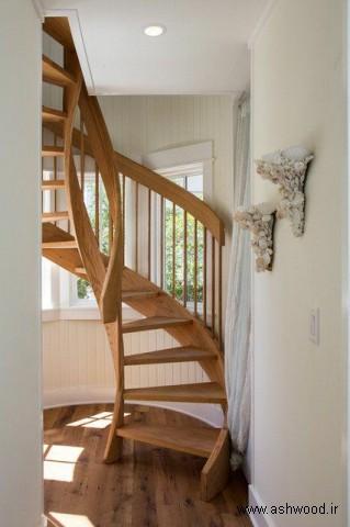 پله چوبی , نرده چوبی , ساخت پله چوبی دوبلکس , راه پله چوبی