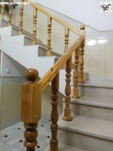 نرده چوبی و فلزی ، پلکان چوبی ، طراح و سازنده پله