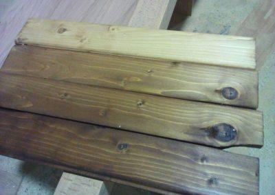 عکس لمبه چوب کاج ، تیرچه و دیوارکوب ، سقف کاذب