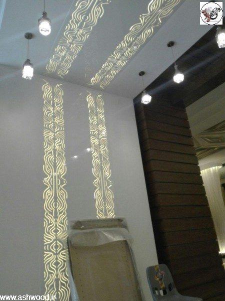 نورپردازی دیواری ، دکوراسیون رستوران ماهان شاندیز