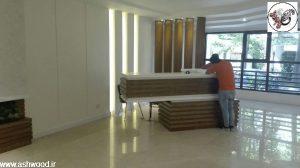 میز لابی من ، دکوراسیون ورودی ساختمان ، فرمانیه