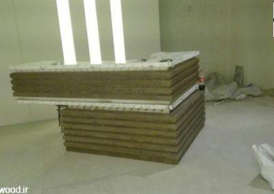 دکوراسیون لابی و ورودی ساختمان پارادایز فرمانیه , اجرای نورپردازی , اجرای فضای سبز , ساخت میز لابی ، ساخت دیوار تلویزیون با طراحی 3d
