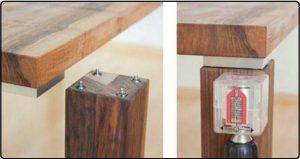 اتصالات فلزی چوب