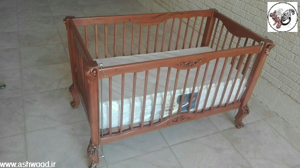 ساخت سرویس نوزاد سبک کلاسیک ساده با چوب راش المان